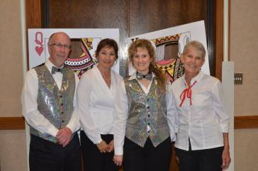 Southern Colorado Press Club Board members, from left, Scott Jones, Sandy Romero, Sarah Joseph and Judy Hildner. — at Sangre de Cristo Arts Center.