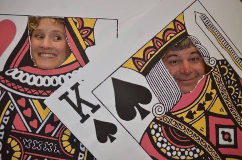 Sarah and Tom Joseph — with Sarah Joseph at Sangre de Cristo Arts Center.