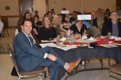 2016 Mel Harmon Award Recipient Craig Eliot with former KOAA-TV colleagues. — at Sangre de Cristo Arts Center.
