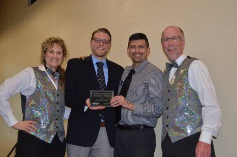 2015 Electronic Media Media Excellence Award went to CSU-Pueblo, Instructional Technology and Web Development (Adam Pocius & Lallo Vigil) — at Sangre de Cristo Arts Center.