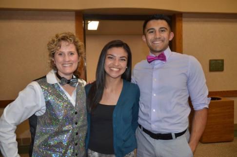 CSU-Pueblo scholarship recipients, — with Sarah Joseph at Sangre de Cristo Arts Center.