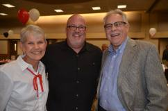 2016 Media Excellence Award Recipient/Print Media, Joe Cervi (center) with Southern Colorado Press Club board member Judy Hildner (left) and Pueblo Chieftain Managing Editor Steve Hensen. — at Sangre de Cristo Arts Center.