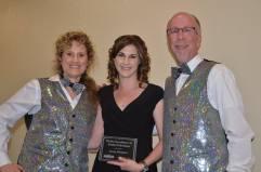 Jenna Mangino (center) 2015 Media Excellence Award Winner for Radio /Television