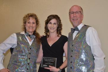 Jenna Mangino (center) 2015 Media Excellence Award Winner for Radio /Television