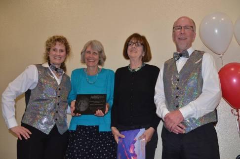 2016 Damon Runyon Award Recipient Mary Jean Porter (second from left). — at Sangre de Cristo Arts Center.