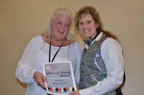 """""""Queen of Hearts"""" Award goes to Cheryl Califano. — at Sangre de Cristo Arts Center."""