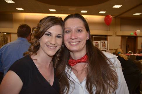 2016 Media Excellence Award Recipient Jenna Mangino and Southern Colorado Press Club board member Trisha Pocius. — at Sangre de Cristo Arts Center.
