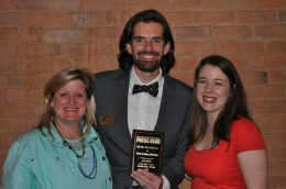 The Pueblo Zoo's marketing team, including director Abbie Krause and communications manager Adam Davidson, with their Media Excellence award for public relations.