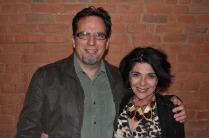 The Pueblo Chieftain's Justin Morenz with Damon Runyon Award winner Therese Simony.