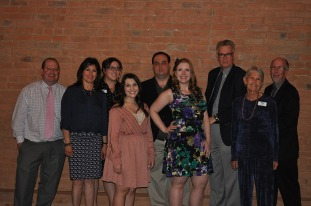 Southern Colorado Press Club board members, from left: Matt Center, treasurer Sandy Romero, Alyssa Parga, Gianna Lisac, president Jayson Peters, secretary Courtney Woodka, Paul Fanning, Judy Hildner and vice president Scott Jones.