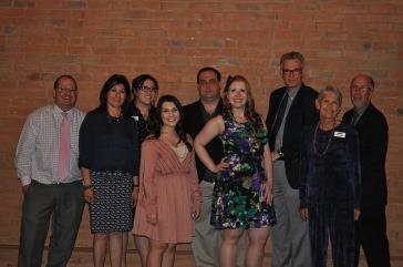 Southern Colorado Press Club board members, from left: Matt Center, treasurer Sandy Romero, Alyssa Parga, Gianna Lisac, president Jayson Peters, secretary Courtney Woodka, Paul Fanning, Judy Hildner and vice president Scott Jones.