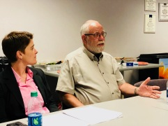 Dr. Michael Nerenberg, M.D. and Alexis Ellis of the Pueblo Department of Public Health & Environment