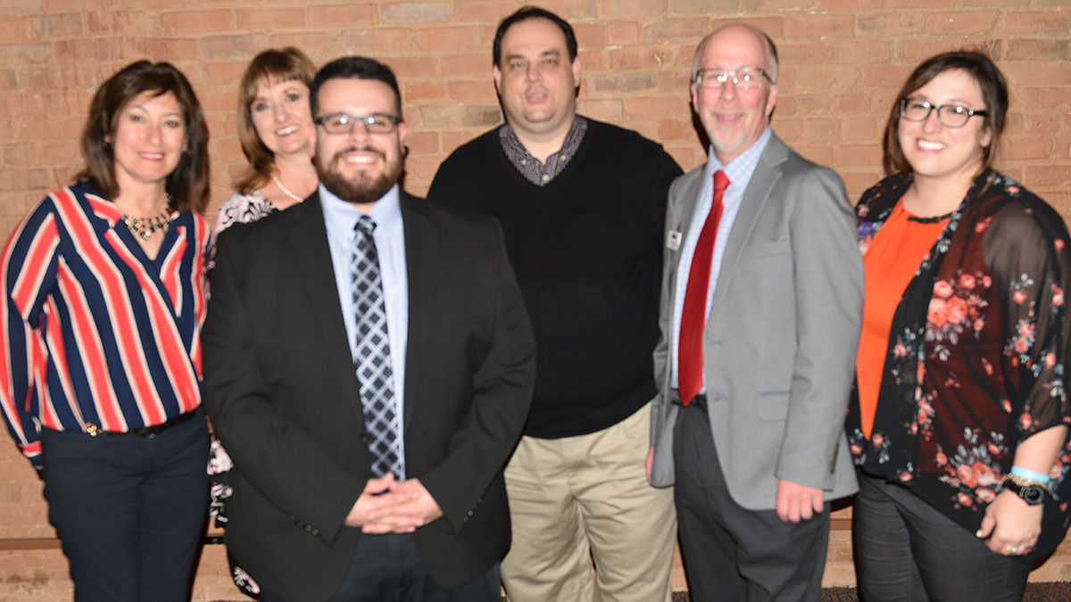 Southern Colorado Press Club 2018-19 board members, from left: Sandy Romero, Amber Shipley, Steve Medina, Jayson Peters, Scott Jones and Alyssa Parga
