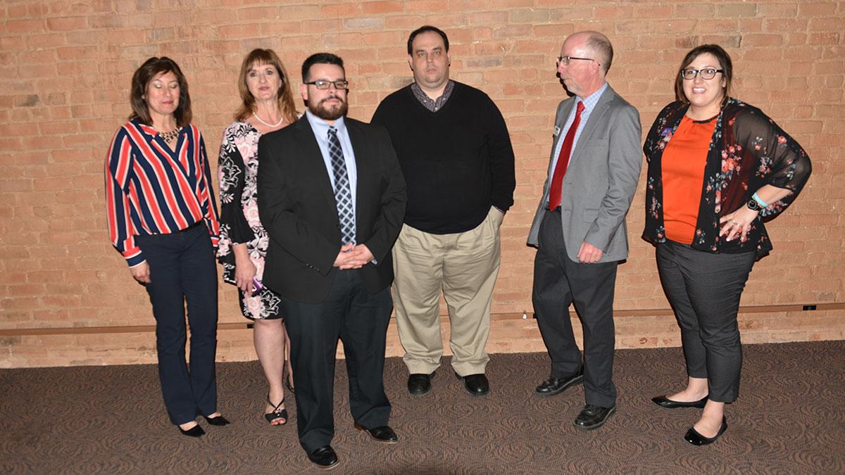 Southern Colorado Press Club 2018-19 board members, from left: Sandy Romero, Amber Shipley, Steve Medina, Jayson Peters, Scott Jones and Alyssa Parga